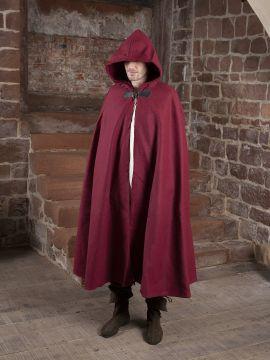 Wollumhang mit Drachenspange rot 131 cm
