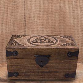 Holztruhe Keltischer Knoten