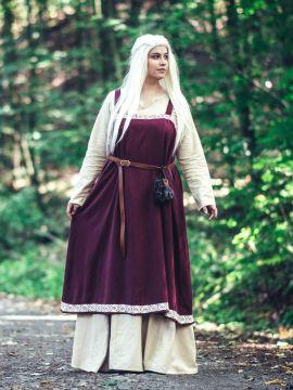 Wikinger-Überkleid Hetja rot