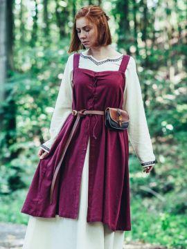 Wikinger-Überkleid Kilja rot L/XL