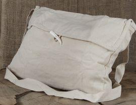 Große Umhängetasche aus Baumwolle in natur