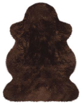Lammfell vom Wollschaf - braun