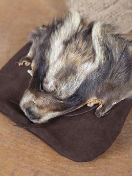 Gürteltasche Waschbär braun