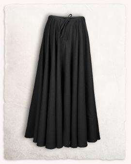 Mittelalterrock aus Wolle schwarz