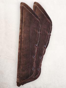 Armpolster aus Wildleder braun