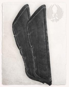 Armpolster aus Wildleder schwarz