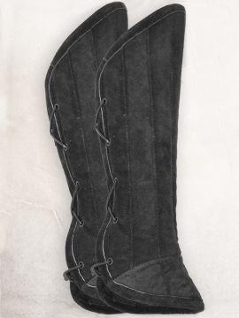 Beinpolster aus Wildleder schwarz