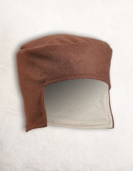 Kappe aus Wolle braun
