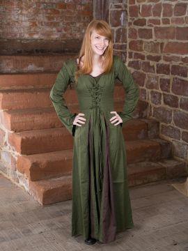 Mittelalterkleid Alina oliv-braun