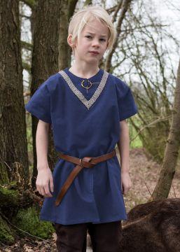 Kinder Tunika Ailrik kurzarm blau