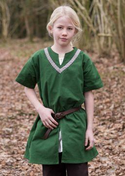 Kinder Tunika Ailrik kurzarm grün