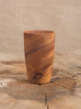 konischer Becher Akazienholz