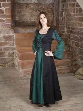 Mittelalterkleid Martha, schwarz-grün