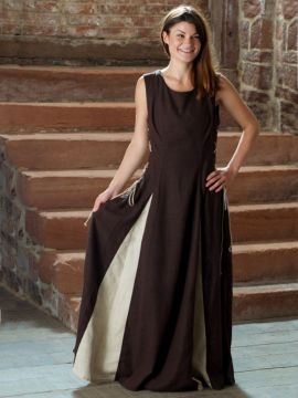 Ärmelloses Kleid braun