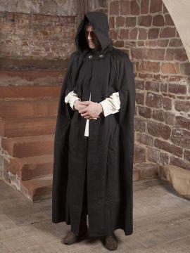 Umhang aus Baumwolle in schwarz