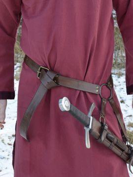 Schwertgürtel aus braunem Leder