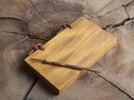 Schreibtafel / Wachstafel mit Bronzegriffel