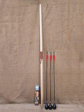 58er Bogen für Larp im Set mit 3 Pfeilen
