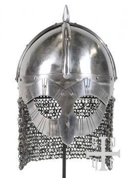 Gjermundbu-Helm, Wikinger Brillenhelm mit Kettenbrünne