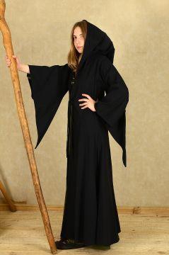 Kapuzenmantel Amarië, schwarz