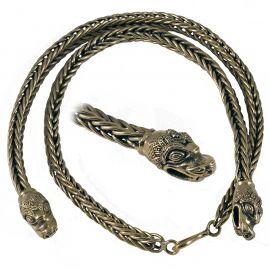 Wikingerkette mit Drachenköpfen 55 cm