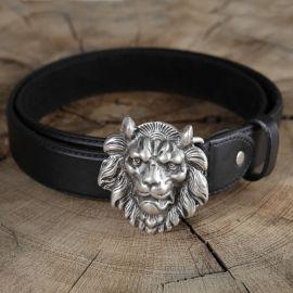Ledergürtel Löwenkopf