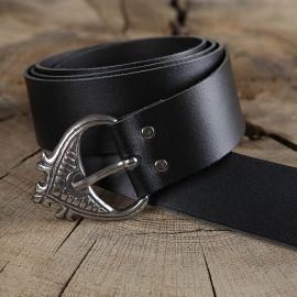 Mittelaltergürtel/Langgürtel breit schwarz