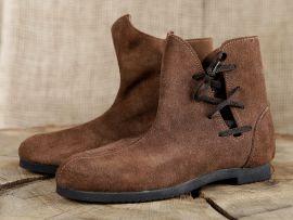Schuh nach historischem Vorbild (aus Velourleder)