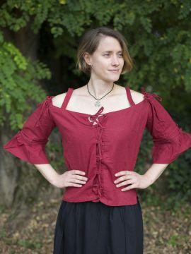 Bluse mit verstellbaren Trägern, rot M