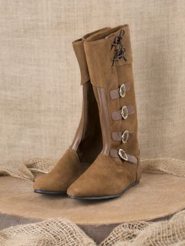 Mittelalter Stiefel mit Schnallen braun