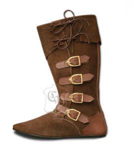Mittelalter Stiefel mit Schnallen braun 38