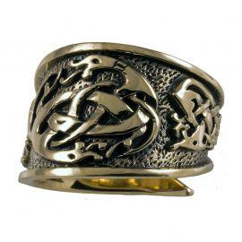 Keltischer Ring aus Bronze