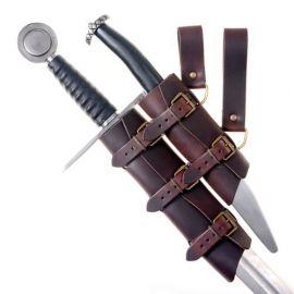 Doppel-Schwertgehänge aus Leder braun