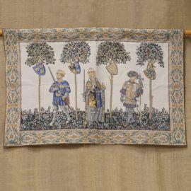 Wandteppich  - mittelalterliche Helden