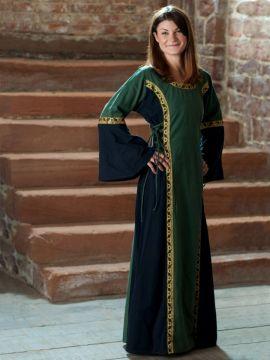 Kleid Klarissa grün-schwarz