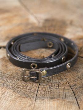 Wickelarmband aus Leder schwarz