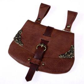 Mittelaltertasche mit Beschlägen braun