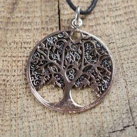 Anhänger Lebensbaum, bronze teilversilbert