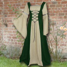 Kleid Elisabeth waldgrün-sand