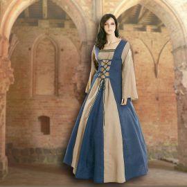 Kleid Fabienne hellblau-sand