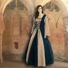 Kleid Fabienne  marineblau-sand
