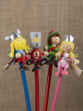 Set Bleistifte mit Figuren