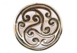 Keltische Fibel mit Triskele