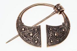 Grosse Wikingerfibel aus Bronze