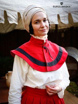 Flora Trossfrauen Kragen rot-schwarz