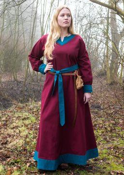 Kleid Freydis weinrot/petrol