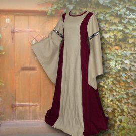 Kleid Frieda weinrot-sand
