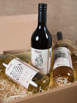 Geschenkbox mit 3 Flaschen Met