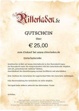 Geschenkgutschein Postversand | 25 EUR