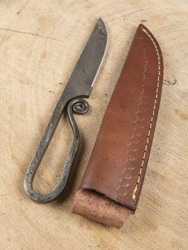 Mittelaltermesser aus Damaststahl